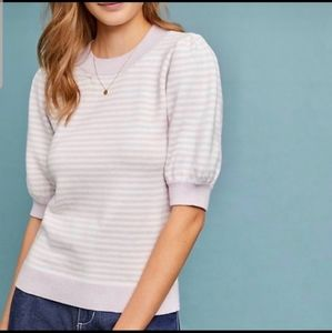 Moth/Anthropologie Lilac Puff Sleeved Sweater